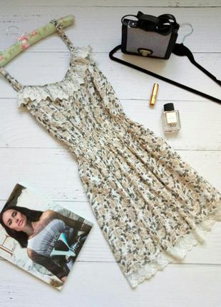 Милое цветочное платье с кружевом next