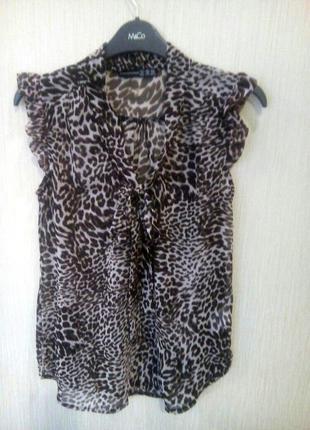 Блузка леопардовый принт с бантом atmoshpere