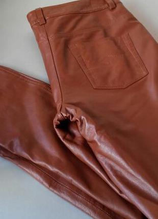 Новые брюки из натуральной кожи best connection 40