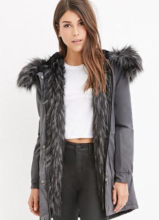 Меховая парка куртка с мехом