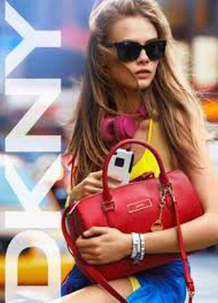 Красная сумка из сафьяновой кожи dkny donna karan