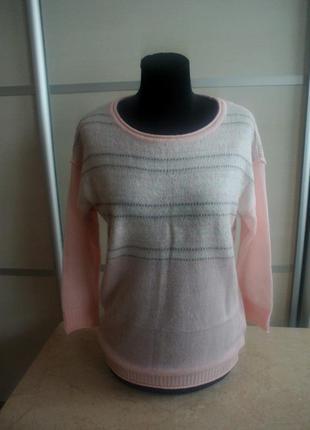 Свитер джемпер кофта oodji knits, 36 р. (s/m) нежно розовый