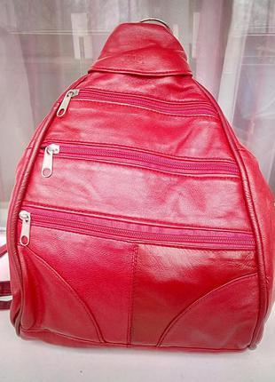 Стильный фирменный кожаный рюкзак joop.