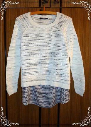 Крутой ажурный свитерок с майкой george.