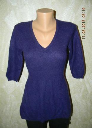 Очень женственный и элегантный кашемировый свитерок -туника