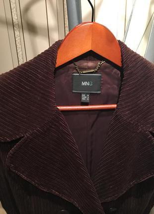 Вельветовое пальто mango