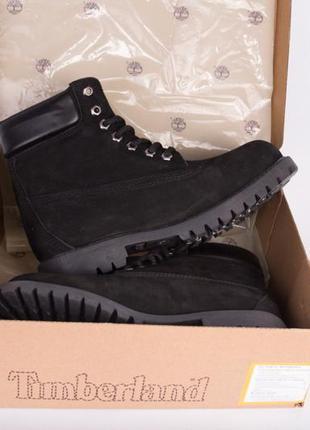 Чёрные ботинки timberland без меха