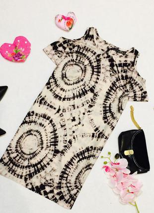 Стильне плаття atmosphere з відкритими плечима / прямий фасон /платье