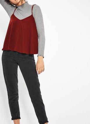 Классическая майка бордового (марсала) цвета от  new look
