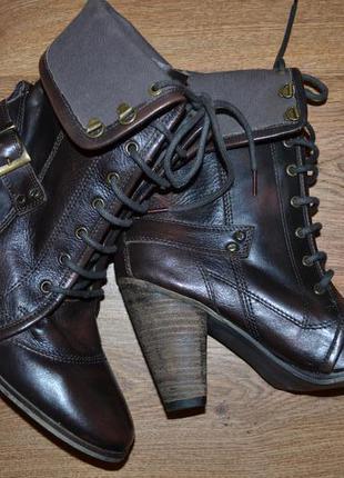 Р. 42 - 28 см. crafted. сапоги на шнуровке фирменные оригинал