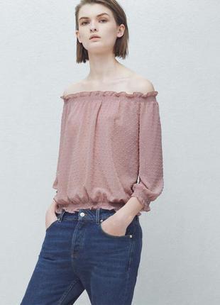 Блузка розовая mango plumeti р36 s