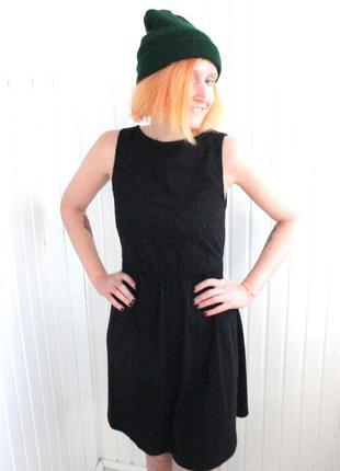 Новое черное платье из хлопка atmosphere