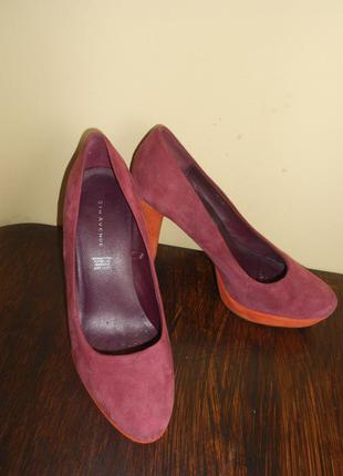 Замшевые элегантные туфли 5th avenue