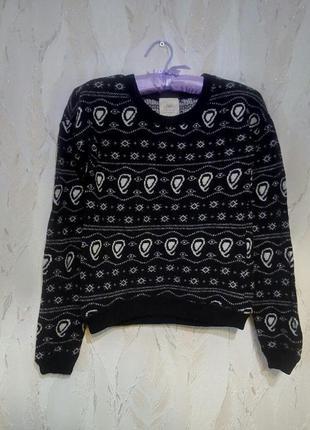 Стильный свитер zara. размер с.