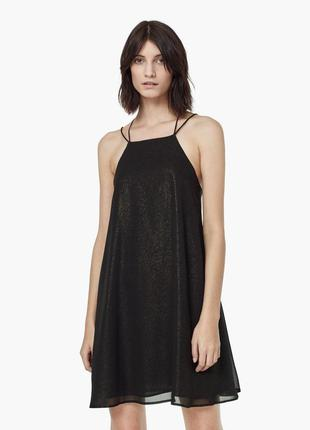 Струящееся платье с блестками