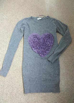 Мягенький прикольный свитер с сердцем