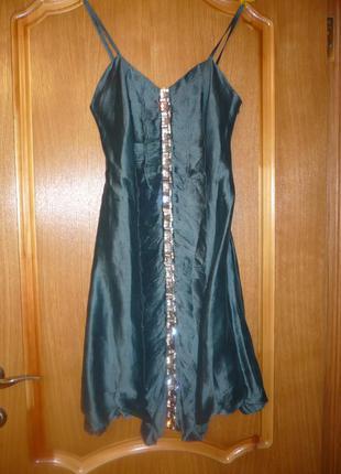 Платье шелковое blumarine дизайнерское оригинальное размер s, xs