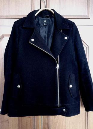 Пальто свободное бойфренд boyfriend h&m