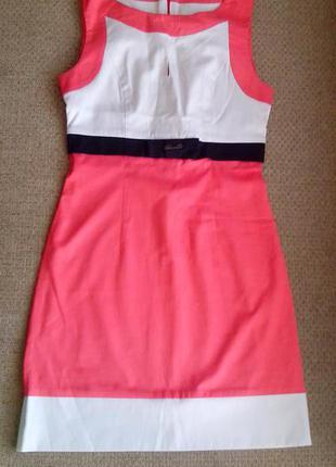 Летнее коралловое платье trg