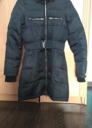 Черное пальто куртка zara