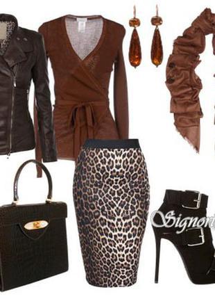 Юбка с леопардовым принятом