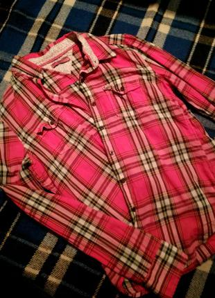 Коетчатая рубашка loft