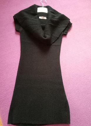 Платье-туника теплое