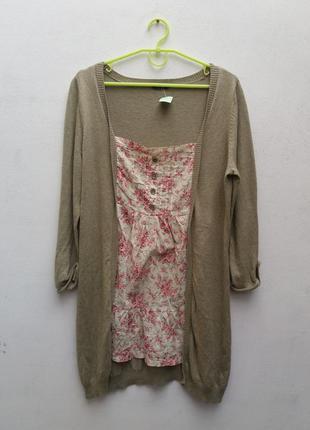 Туника-кофта, платье в цветочки от  george