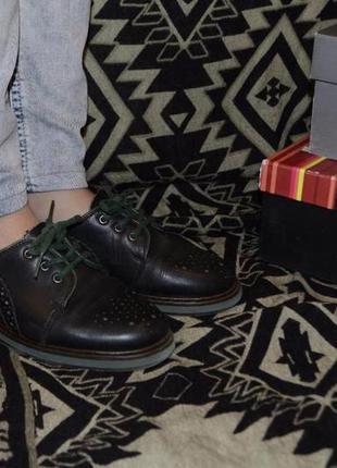 Туфли оксворди германия кожаные броги