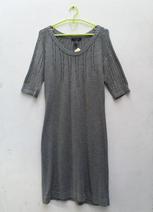 Вязаное серое платье от woman tcm