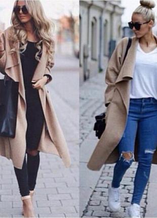 Модный тренд!!! новый кардиган пальто халат  кашемир италия !!