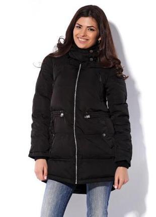 Новый натуральный пуховик pull & bear зимняя куртка натуральний пуховик новий