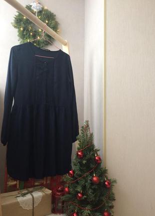 Темно синее платье zara 👗