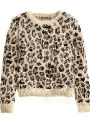 Свитер h&m divided леопард