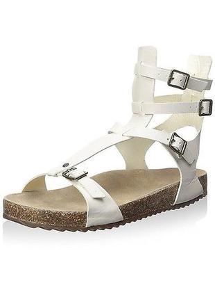 Schutz оригинал сандалии гладиаторы белые кожаные бренд из сша р35