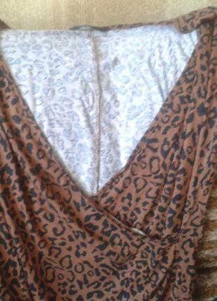 Леопардовая кофточка 12-14 размер