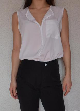 Легкая белая блуза от h&m