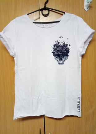 Белая футболка интроверт
