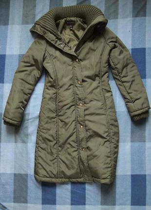 Стильный пуховик зимнее пальто mango