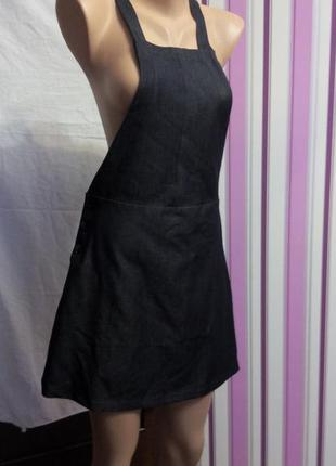 Платье сарафан короткое черное 46 размер мини