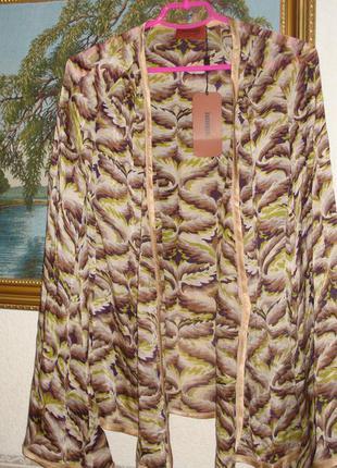 Шелковый кардиган-кимоно люксового бренда  missoni (италия), оригинал
