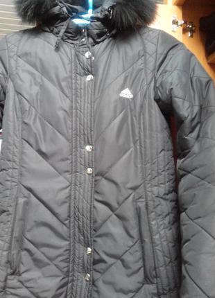 Куртка-пальто черная adidas