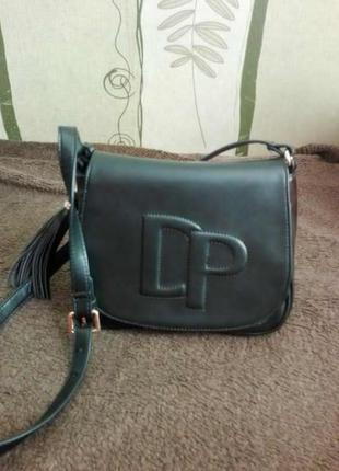 Черная сумка кросс боди от daniele partici