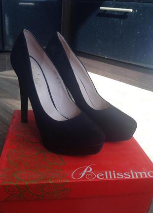 Туфли с искусственного замша bellissimo
