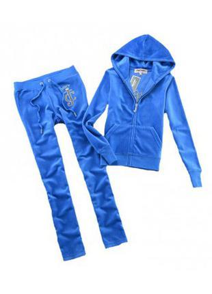 Juicy couture  костюм спортивный велюровый голубой р 42-44 оригинал