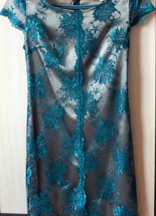 Брендовое кружевное платье