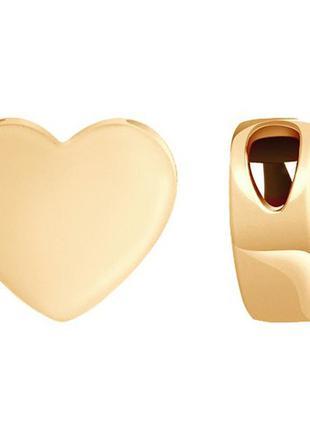 Золотой кулон 585 сердце сердечко подвеска подвес