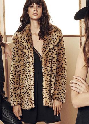 Леопардовый полушубок тренд