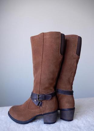 Утепленные кожаные сапоги shuropody новые 37 размер германия