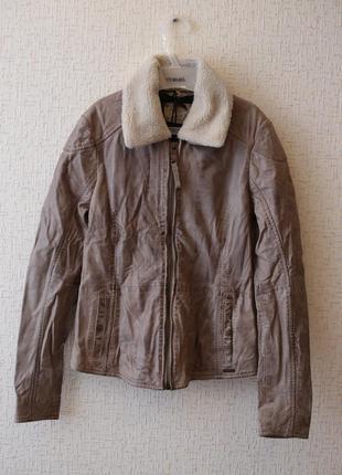 Винтажная  кожаная  куртка  maze р.xs/s